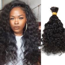 Human Hair Bulk For Braiding Unprocessed Brazilian Virgin Wavy Hair Extensions
