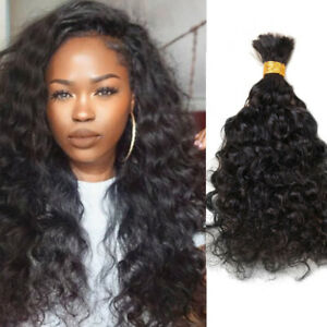 Human Hair Bulk For Braiding Unprocessed Brazilian Virgin Wavy Hair Extensions