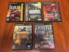 PS2 PlayStation2 - 5 Game Lot - Dynasty Warriors 4, Ghost Recon, Italian Job CIB