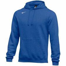 NWT Nike Men's Club Fleece Pullover Hoodie Sweatshirt LARGE Royal Blue 835585