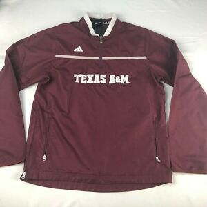 ADIDAS Texas A&M Aggies 1/4 ZIP  WOMENS/YOUTH 14-16 SHELL PULLOVER JACKET