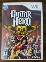 USED (Complete) Guitar Hero: Aerosmith (Nintendo Wii, 2008) - CIB Free Shipping