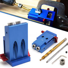Pocket Hole Jig Step Drill Bit Kit Woodworking Carpentry For Joinery Tool