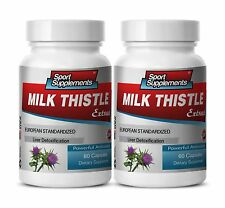Organic Milk Thistle Seed - Milk Thistle 80% Extract 245mg - Detox Flush  2B