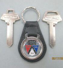 Ford Crest Key Set OEM Nickel NOS In Dash Ignition 1965 1966 1967 1968 1969