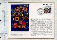 DOCUMENT CEF PREMIER JOUR 1983  TIMBRE N° 2263 DEWASNE AURORA SET