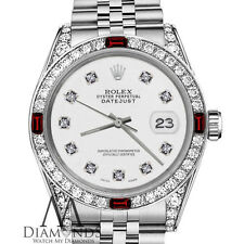 Ladies Rolex 26mm Datejust White Color Dial with Ruby & Diamond Accent Watch