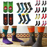 Novelty Cotton Socks Men Boy Crew Sock Soft Art Funny Happy Breathable Sports AU