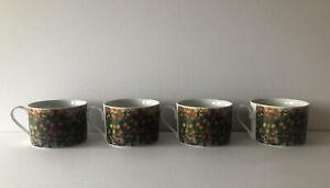 SAKURA SET OF 4 VINCENT VAN GOGH WILDFLOWER MEADOW PORCELAIN COFFEE CUPS