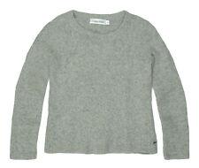 womens Jumper CALVIN KLEIN warm fluffy crew neck size XS - Grey