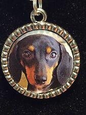 """Dog Dachshund Weiner Charm Tibetan Silver with 18"""" Necklace G1 BIN"""