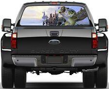 Fish Bass Fisherman Fishing Version 3 Rear Window Graphic Decal Truck SUV
