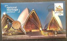 2021 Australia Sydney Opera House Pnc $1 Unc coin & $1.10 stamp