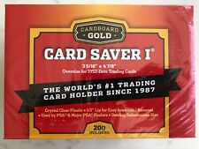 Cardboard Gold Card Saver 1 - 50 / 100 / 200 Holders New PSA BGS - UK SELLER