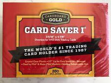 Cardboard Gold Card Saver 1 - 50 / 100 / 200 Holders New PSA BGS - UK SELLER
