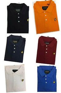 MEN'S LYLE AND SCOTT SHORT SLEEVE POLO SHIRT (plain collar) 100% COTTON