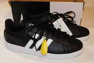 Adidas Womens Tennis Shoes Cloudfoam Advantage Sneakers US 11 Black White stripe