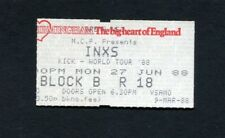 1988 INXS Concert Ticket Stub Kick World Tour Birmingham UK