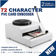 EMBOSSING MACHINE 72-CHARACTER CREDIT CARD VIP CLUB CARD 1/7 INCH ACTIVE DEMAND
