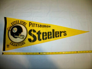 Pittsburgh Steelers Vintage 1970s Super Bowl Champions Full Size Pennant
