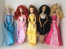 Disney Store Princess 17in Singing Dolls Lot Ariel Belle Elsa Jasmine Aurora