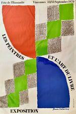 Affiche originale SONIA DELAUNAY, Fête de l'Humanité, Peintres et Livres 1970