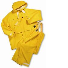 West Chester 2 Piece Rain Suit Jacket Hood Bib Overalls .35mm PVC 5XL