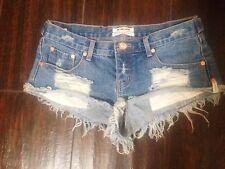One Teaspoon Size 27 Le Bonne Trashwhores Women's Cut Offs Denim Shorts