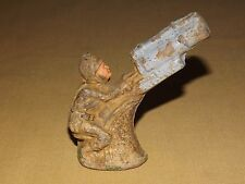 "VINTAGE TOY 3 1/2"" HIGH PLASTIC MILITARY FIGURE? NOT SURE"