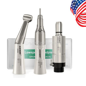 US NSK Style Dental Low Speed Handpiece Angle+Straight +AirMotor External B2