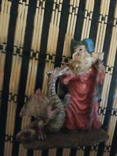 Wizard And Dragon Resin Figurine/Statue