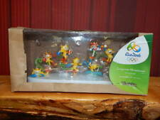 Official Rio 2016 Olympic PVC Mascot Vinicius Miniature Collectible Set RARE!