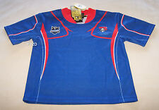 Newcastle Knights NRL Boys Blue Red Supporter Home Jersey Size 0 New