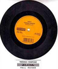 "SWEET Teenage Rampage & Hell Raiser 7"" 45 rpm record + juke box title strip NEW"