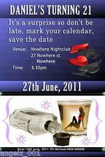 Personalised Surprise 18th 21st Birthday Bucks Night Invitation