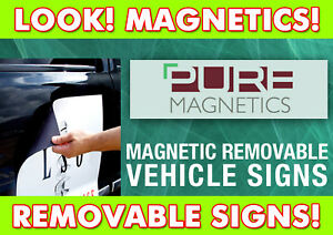 Magnetic Removable Vehicle Graphic Signs CARS & VANS