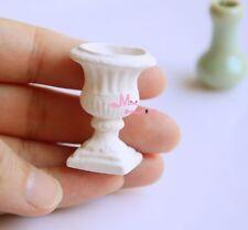 1:12 Dollhouse Miniature White Porcelain  Vase Garden Decor OV60