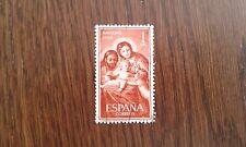 sello usado navidad, sagrada familia de Goya, edif. 1253 año 1959