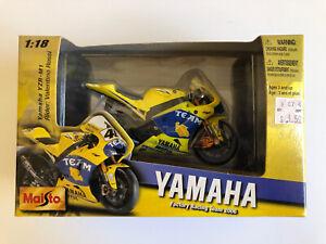 SEALED 2007 MAISTO 1:18 Valentino Rossi YAMAHA Factory Team Racing YZR-M1