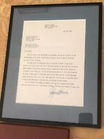 Rogers Hornsby Original Signed Letter For Book Publication LOA From PSA/DNA JSA