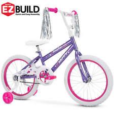 Huffy Girls Bike SeaStar 18inch Purple Adjustable single-speed Safe Bike Steamer