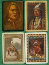 Native American Indians Sitting Bull Pocahontas Apache 4 Swap Cards 1899 - 1920