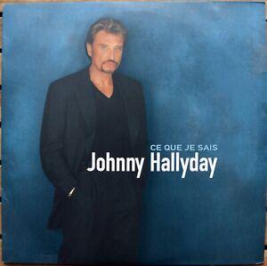 33t Johnny Hallyday - Ce que je sais (LP)