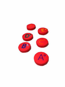 Soft Play Toys for kids PVC Foam STEPPING STONES red colour alphabet learning