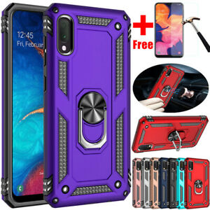 For Samsung Galaxy A01 A11 A21 A10e A20s A30 A50 Shockproof Case+Tempered Glass