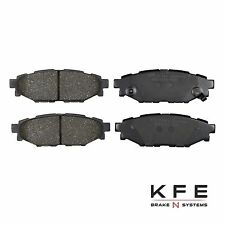 Premium Ceramic Disc Brake Pad REAR NEW Set With Shims Fits Subaru KFE1114