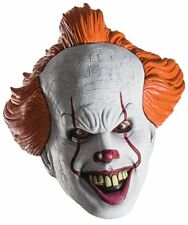"""It"" Pennywise The Clown Adult Licensed 3/4 Molded Latex Mask With Elastic"