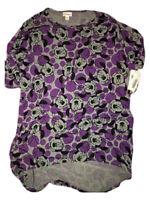 LuLaRoe DISNEY Woman's Irma Shirt Minnie Mouse Print Purple/Gray Size XS Top
