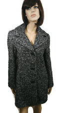Ellen Tracy Womens Coat Size 8 Gray Wool Blend Chunky Tweed 3/4 Length Career