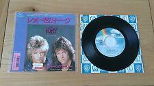 "RARE Stone Fury Let Them Talk 1986 Japan 7"" Single P-2195 Insert Classic Rock"